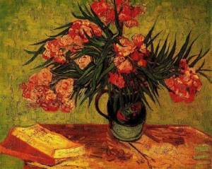 Vase-With-Oleanders-And-Books-Vincent-Van-Gogh-Oil-Painting-AB02415